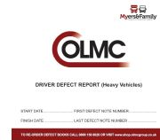 Daily Vehicle Defect Report Log Book HGV - TRIPLICATE COPY